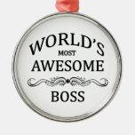 Boss más impresionante del mundo ornamento de reyes magos
