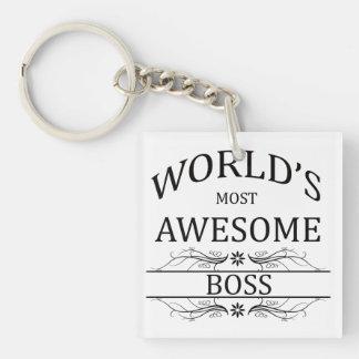 Boss más impresionante del mundo llaveros