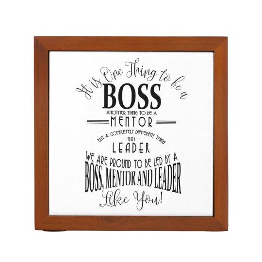 Boss Mentor Leader Thank You Desk Tidy Pencil Pen Holder Zazzle Com