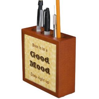Boss' Mood desk organizer