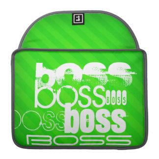 Boss; Neon Green Stripes Sleeve For MacBooks