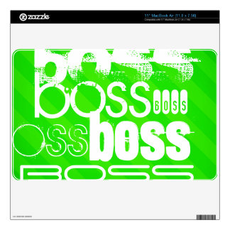 Boss; Neon Green Stripes MacBook Decal
