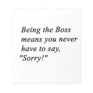 Boss Notepad