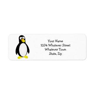 Boss observó el pingüino etiqueta de remite