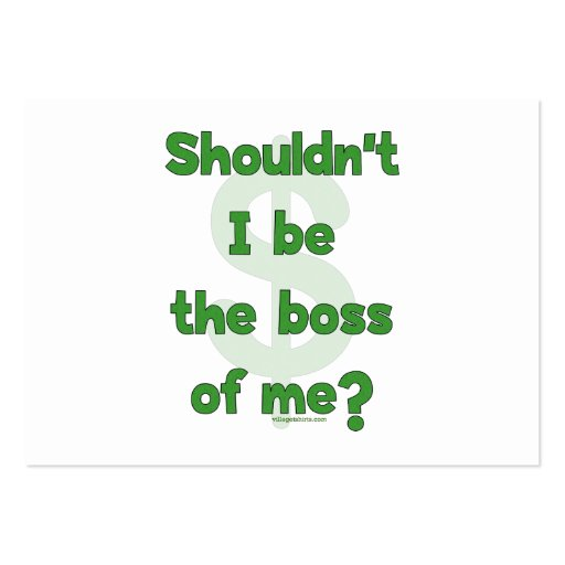 Boss Of Me Large Business Cards (Pack Of 100)