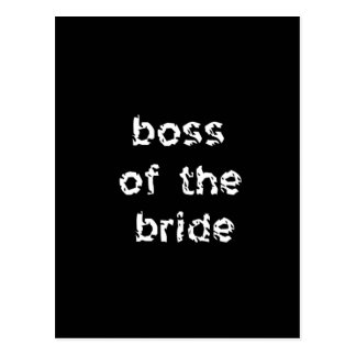 Boss of the Bride Postcard