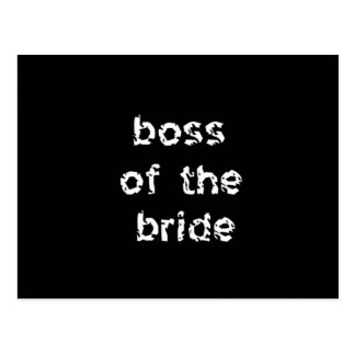 Boss of the Bride Postcard