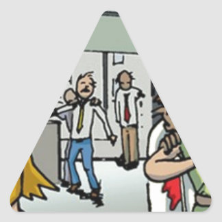 Boss of the Living Dead Home and Office Product Triangle Sticker