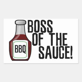 Boss of the Sauce Rectangular Sticker