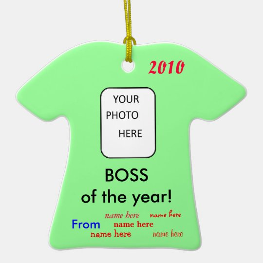 BOSS of the year! Christmas Ornament