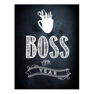 Boss of to year postcard