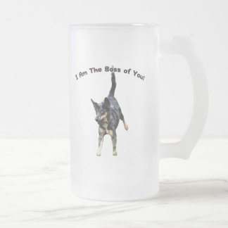 Boss of You Catahoula Dog 16 Oz Frosted Glass Beer Mug