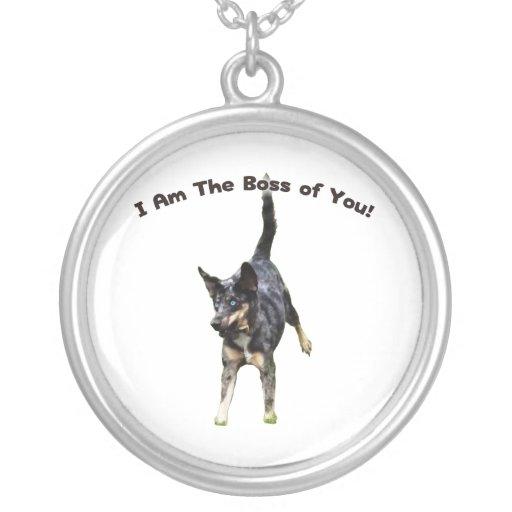 Boss of You Catahoula Dog Round Pendant Necklace