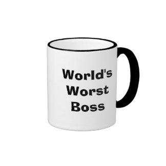 Boss peor del mundo taza de dos colores