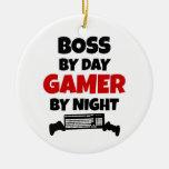 Boss por videojugador del día por noche adornos