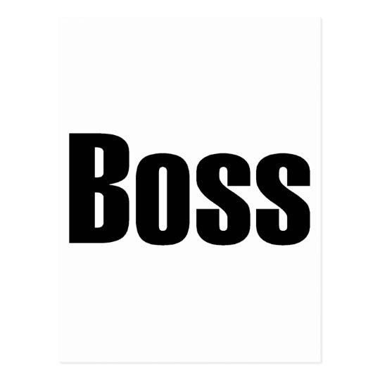Boss Postcard