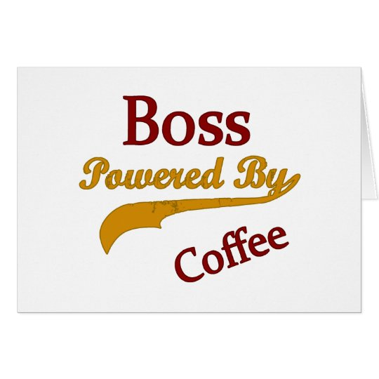 Boss Powered By Coffee Card