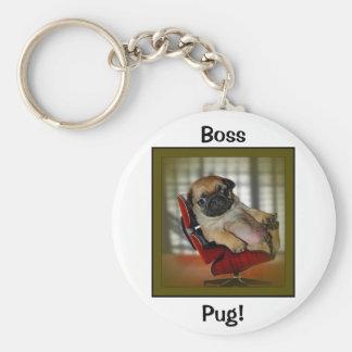 Boss Pug! Keychain