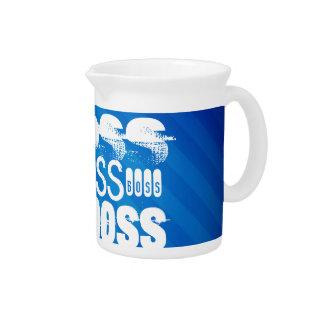 Boss; Rayas azules reales Jarra Para Bebida
