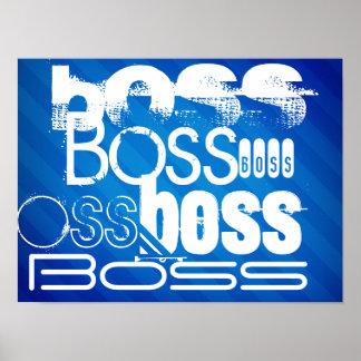 Boss; Rayas azules reales Póster