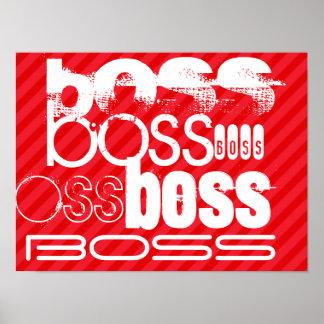 Boss; Rayas del rojo del escarlata Póster