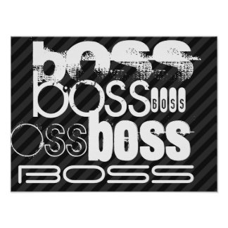 Boss; Rayas negras y gris oscuro Póster