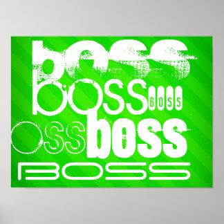 Boss; Rayas verdes de neón Póster