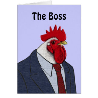 Boss Rooster Greeting Cards