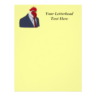 Boss Rooster Personalized Letterhead