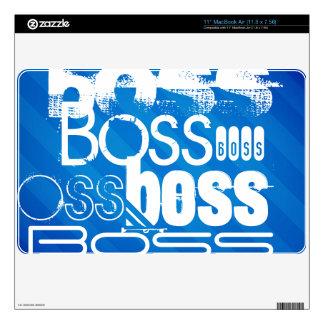 Boss; Royal Blue Stripes Skin For MacBook