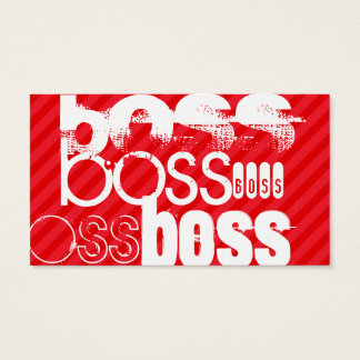Boss; Scarlet Red Stripes Business Card