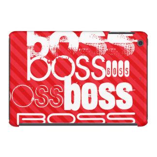 Boss; Scarlet Red Stripes iPad Mini Retina Cover