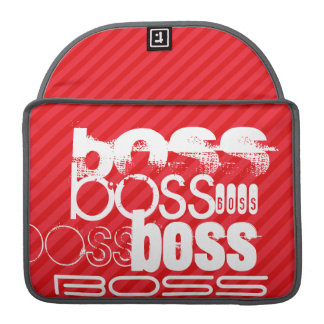 Boss; Scarlet Red Stripes Sleeve For MacBook Pro