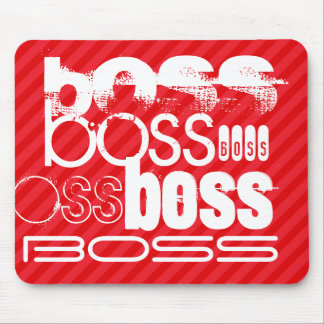 Boss; Scarlet Red Stripes Mouse Pad