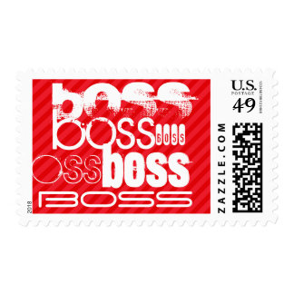 Boss; Scarlet Red Stripes Postage