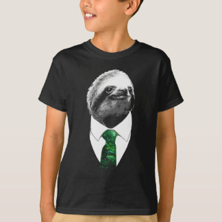 Boss Sloth - Mr. Sloth with Rainforest Tie T-Shirt