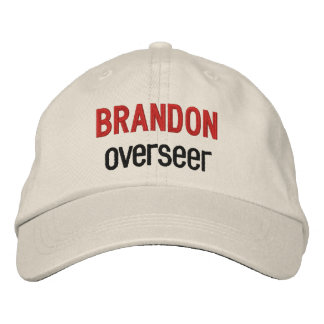BOSS Synonym OVERSEER Custom Name V14K Embroidered Hats