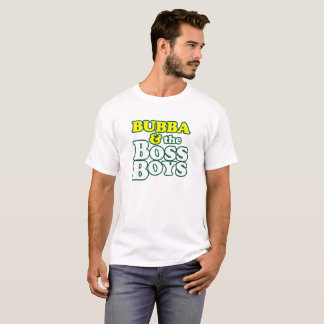 Boss Tee - Light Shirt with Green Stoke