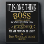"Boss THANK YOU BOSS ""awesome boss Plaque<br><div class=""desc"">Boss THANK YOU,  BOSS ""awesome boss designed by The Arty Apples Limited</div>"