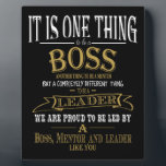 """Boss THANK YOU BOSS """"awesome boss Plaque<br><div class=""""desc"""">Boss THANK YOU,  BOSS """"awesome boss designed by The Arty Apples Limited</div>"""