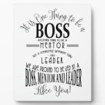"""Boss THANK YOU BOSS """"awesome boss Plaque"""