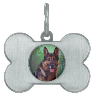 Boss the German Shepherd Pet Tags