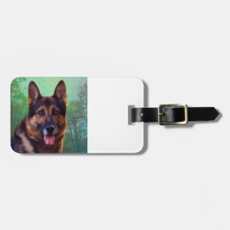 Boss the German Shepherd Tag For Luggage