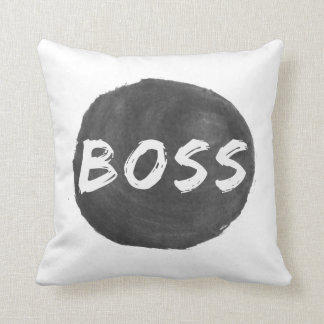 Boss Throw Pillow