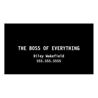 Boss todo tarjeta de visita negra divertida