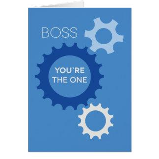 Boss usted es la persona que nos hace el día de tarjeta de felicitación