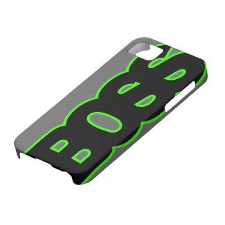 BOSS verde de neón iPhone 5 Cárcasa