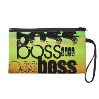 Boss; Verde vibrante, naranja, y amarillo