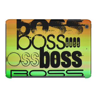 Boss; Vibrant Green, Orange, & Yellow iPad Mini Retina Covers
