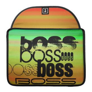 Boss; Vibrant Green, Orange, & Yellow MacBook Pro Sleeves